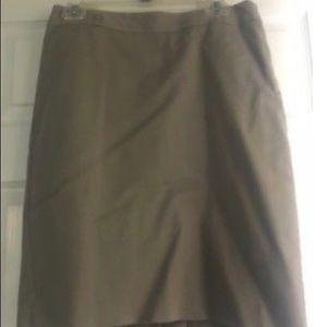Van Heusen Studio Stretch Lined Dark Tan Skirt 6